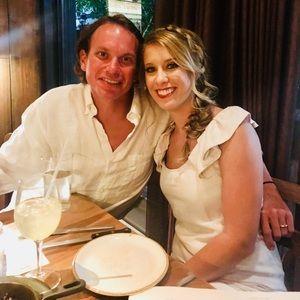 White linen JCrew dress
